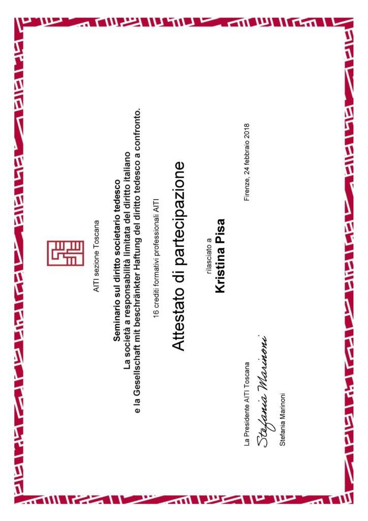 Seminario sul diritto societario tedesco