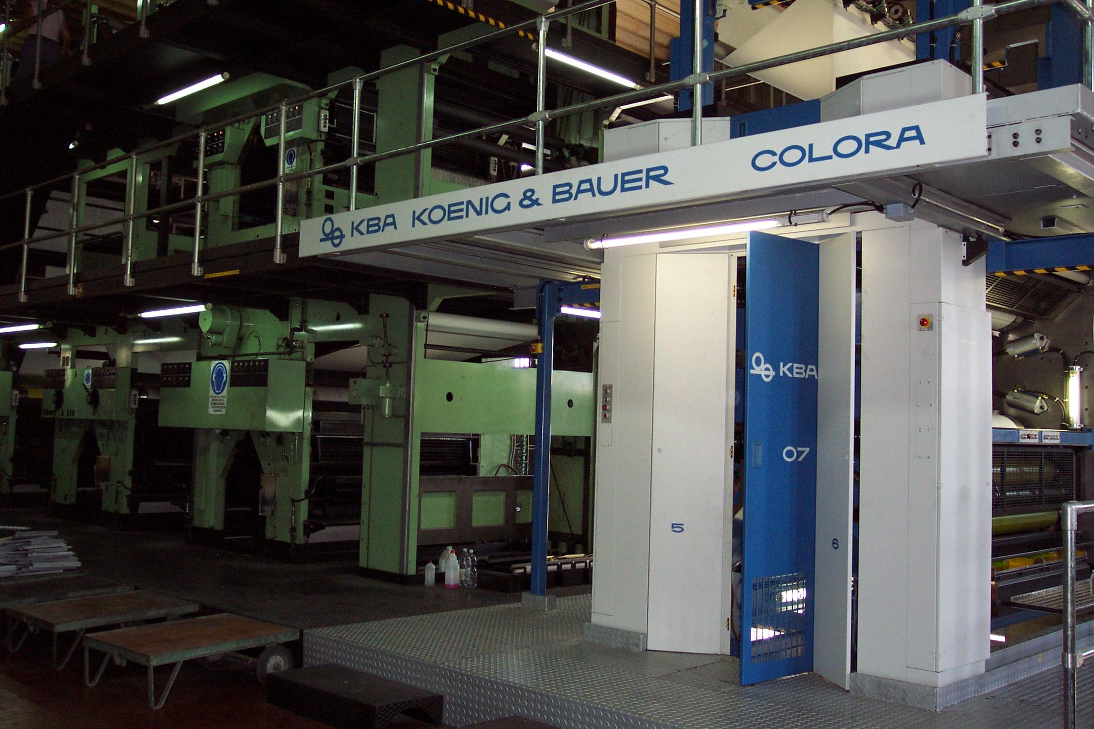 Il «matrimonio» tra vecchia rotativa e nuova torre di stampa