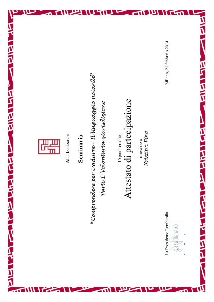 2. Il linguaggio notarile: Volontaria giurisdizione, Milano 2014